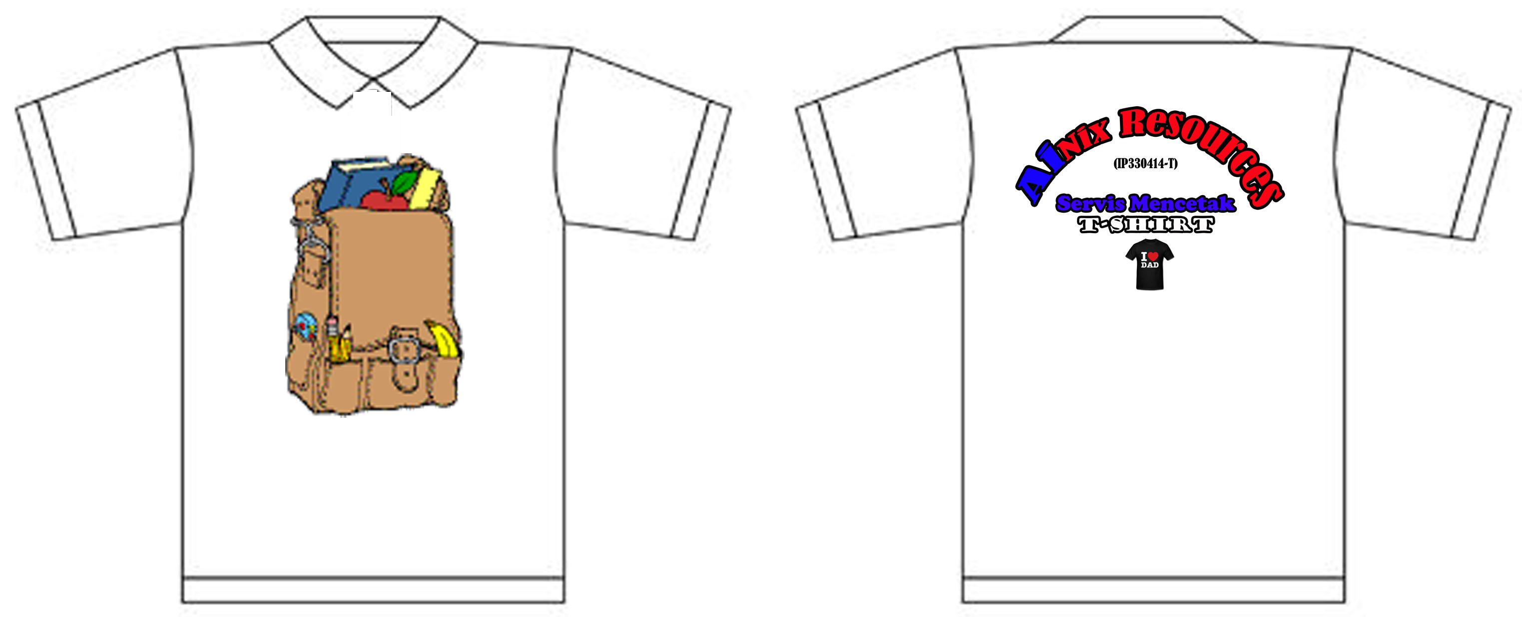 Gambar baju heat press putih | mohcetakbaju.com