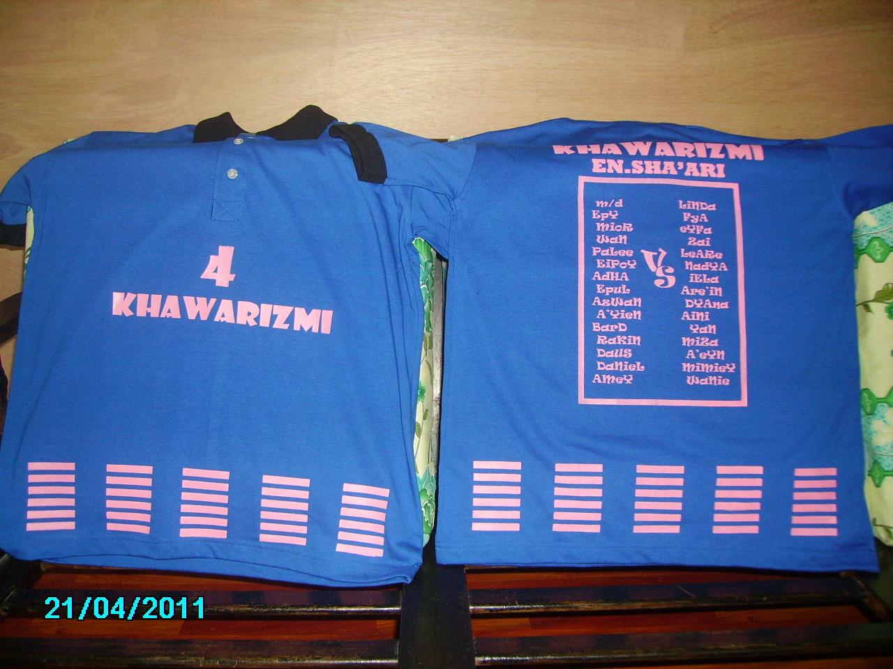Design baju t shirt kelas - Ni Baju Kelas 4 Khawarizmi Sekolah Kat Chenderong Balai Perak Design Semua Diaorang Buat Mula2 Tu Diaorang Nak Penuh Line2 Kat Bawah Tu Alah Ala2 Jersi