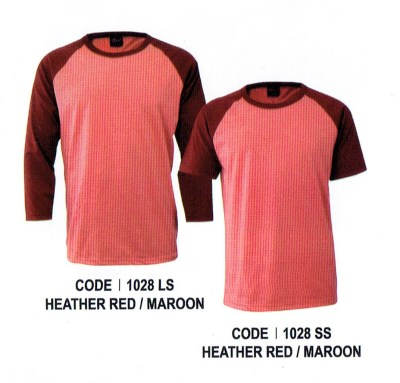 1028 Heather Red Enzo Raglan