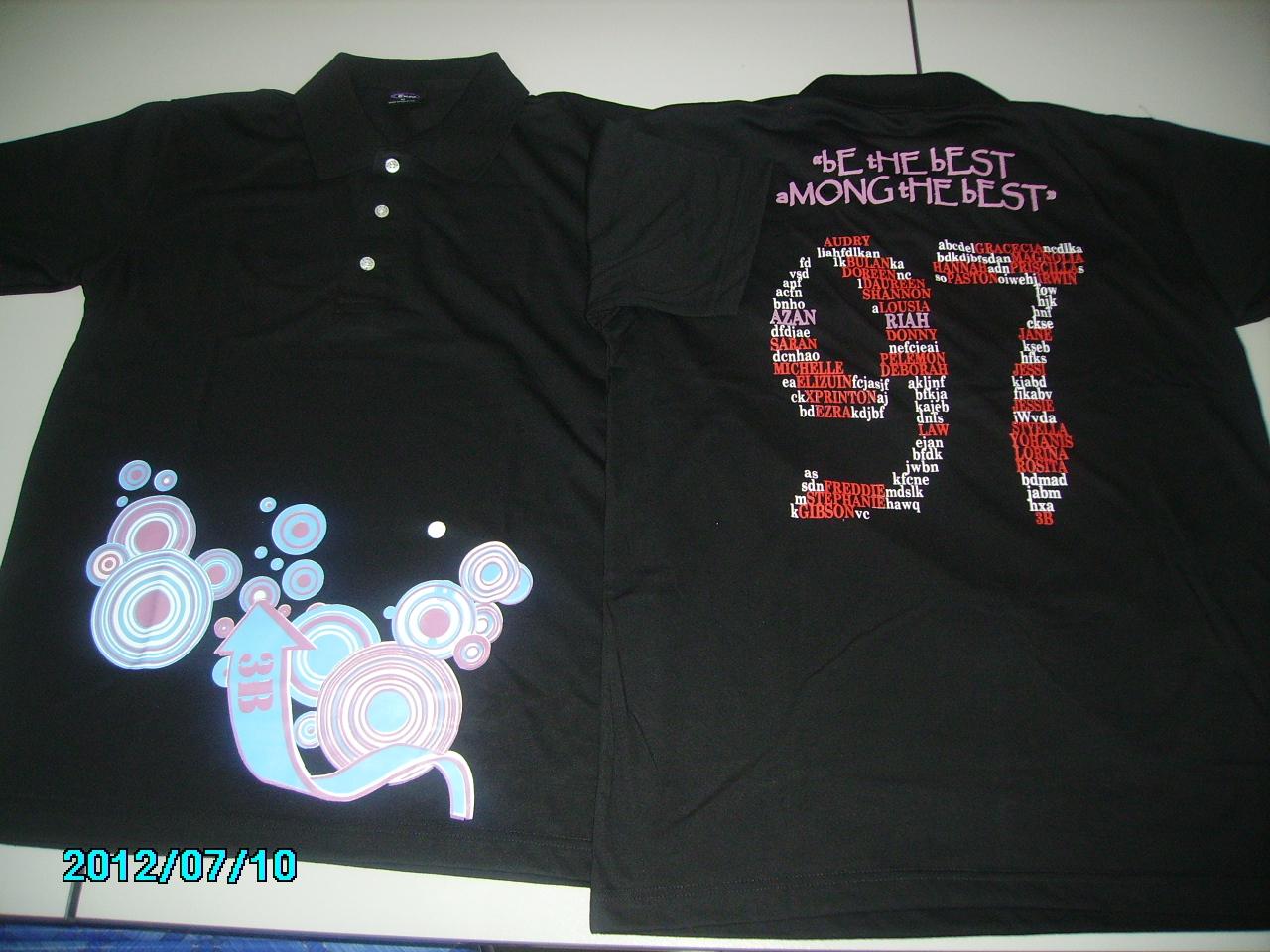 Design baju t shirt kelas - Cetak Baju Kelas