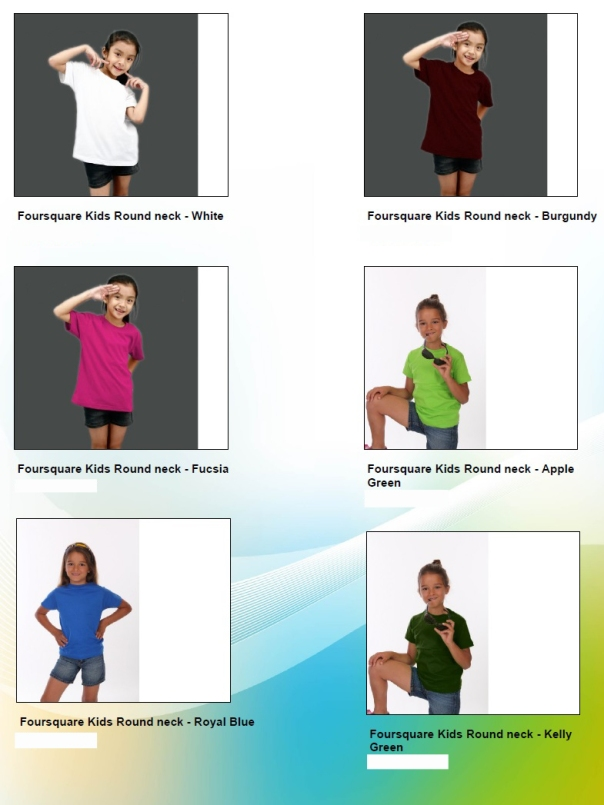 Baju Kids 4square 2