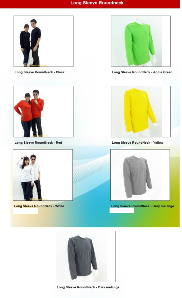 Baju Long Sleeve Roundneck 4square