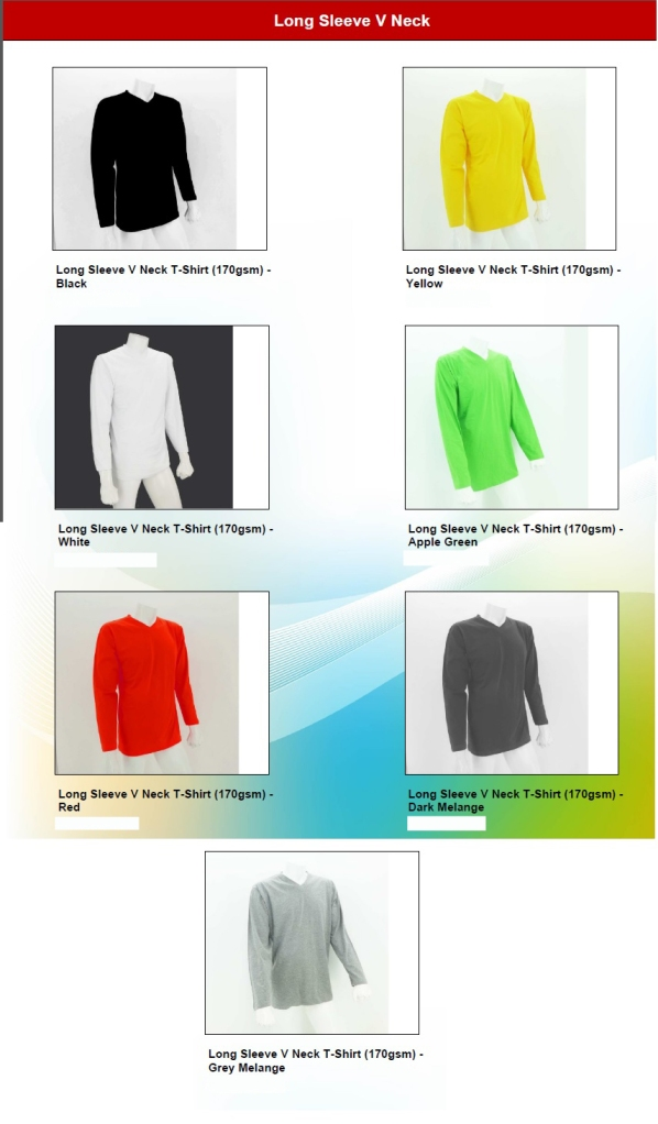 Baju Long Sleeve VNeck 4square