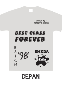 Design Baju Fatin Depan