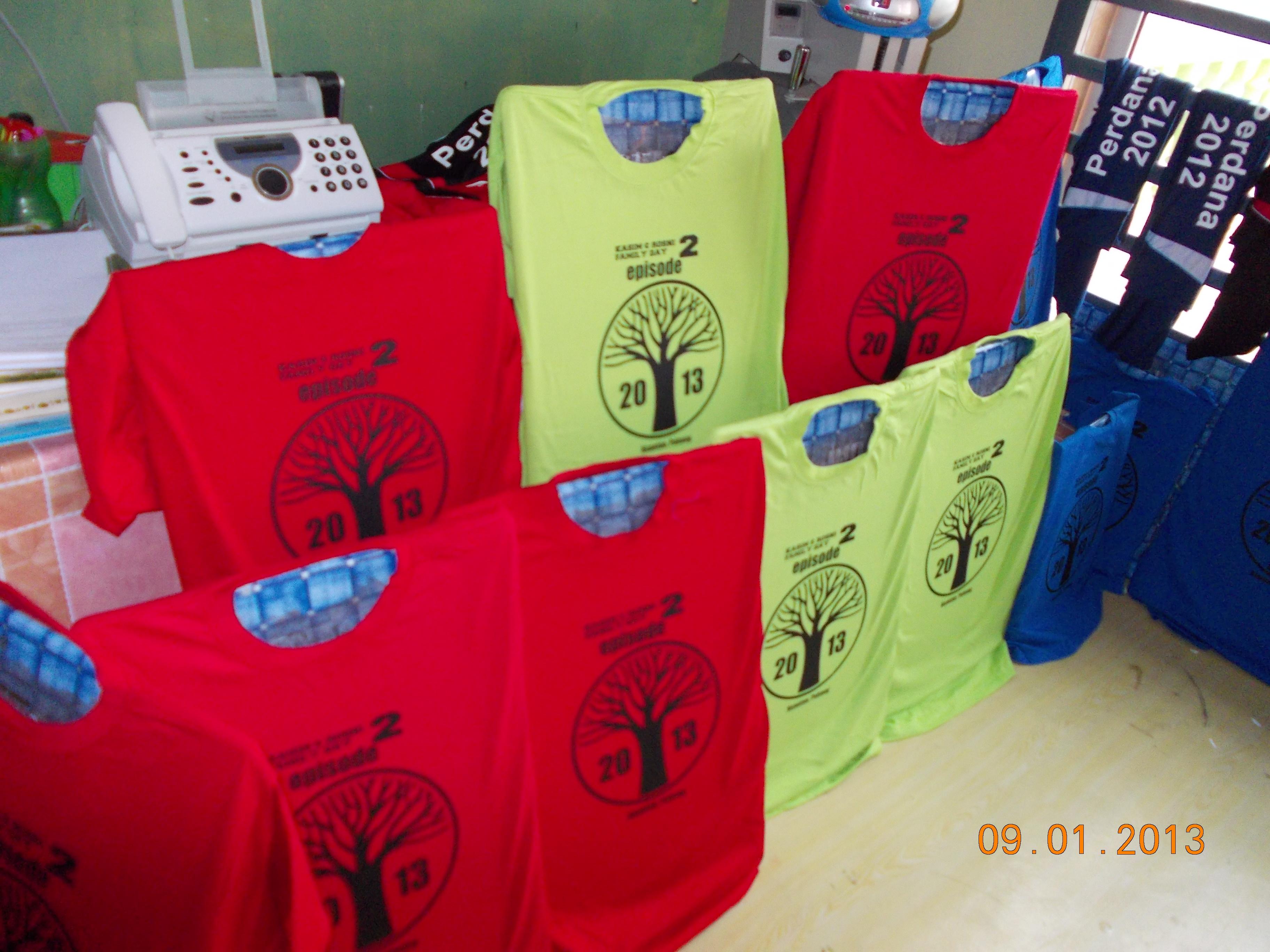 Design t shirt rewang - Cetak Tshirt Family Day