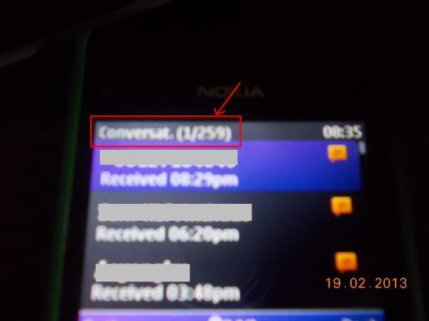 Paparan SMS Conv 20102013