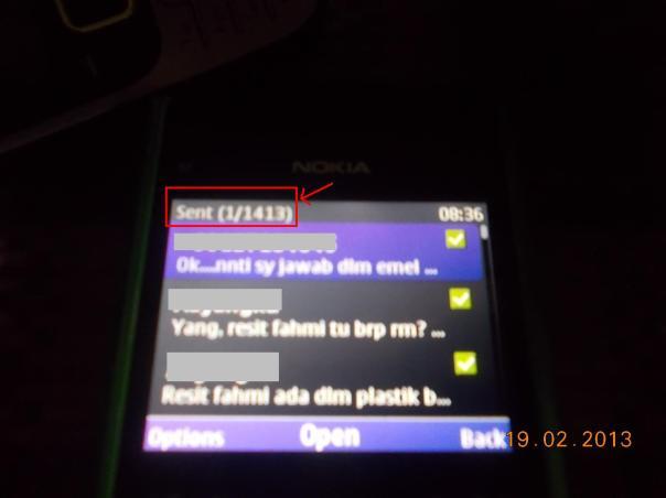 Paparan SMS Sent 20102013