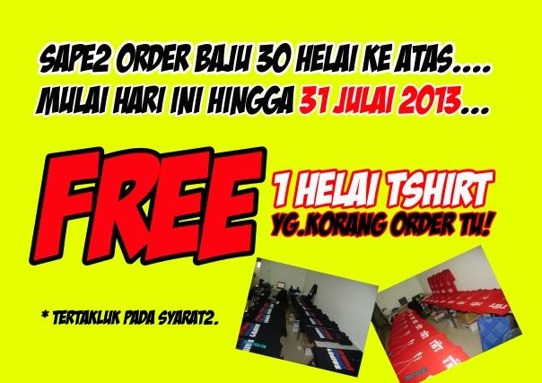 Iklan free baju
