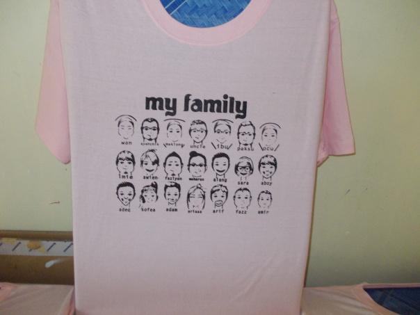 cetak baju family day