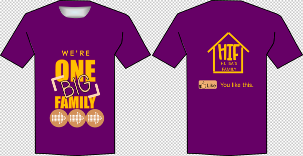 Contoh Design T Shirt Family Day