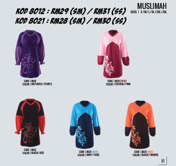 Kod 8012 & 8021 Muslimah enzo