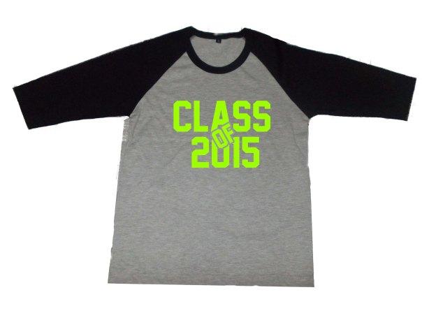 Design Baju Raglan Nama kelas 2015