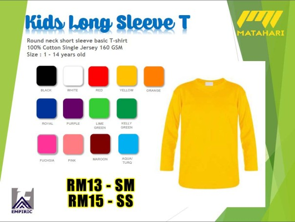 Cotton long sleeve kids Matahari copy