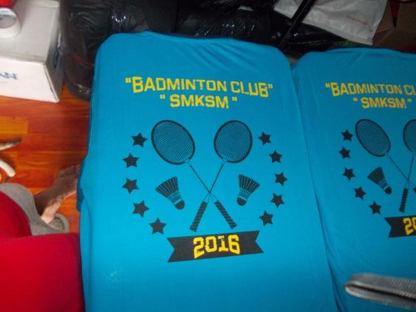 tshirt sukan badminton