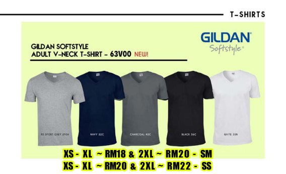 63V00 GILDAN COTTON ROUNDNECK