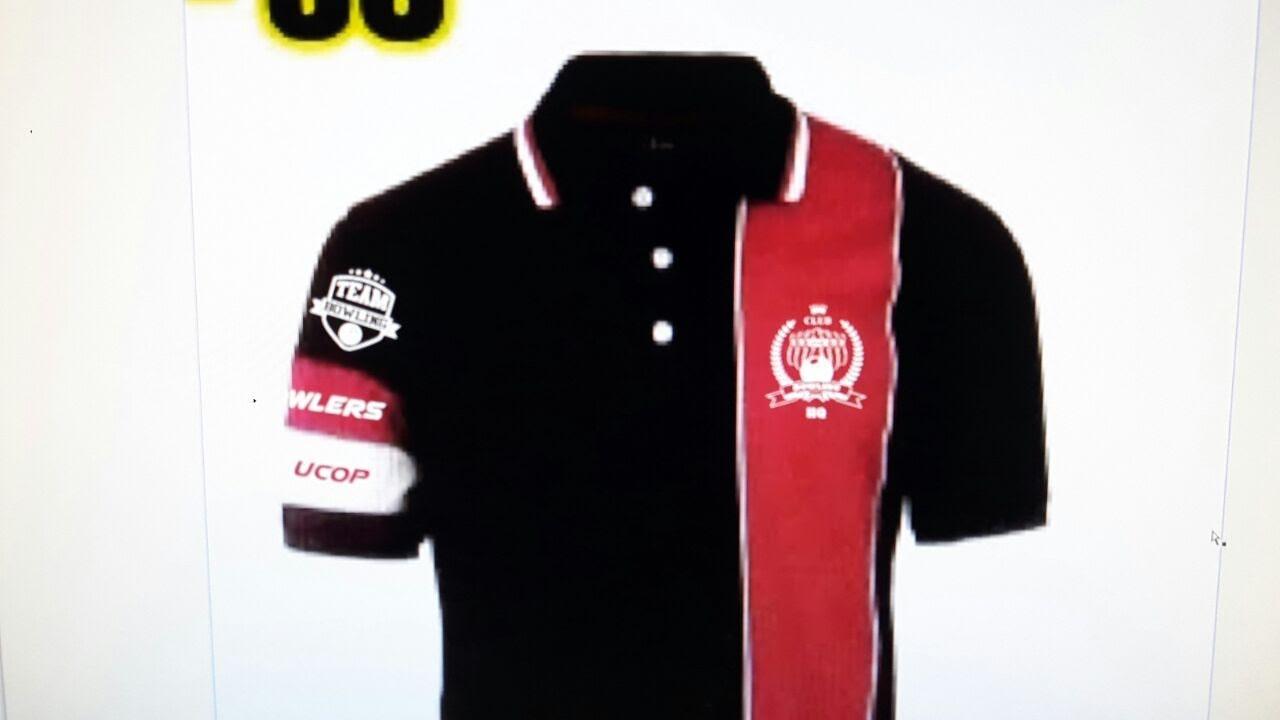 Designs contoh baju t shirt design baju berkolar shirt berkolar - Tshirt Sulam Bowling Gambar Testimoni Arzean Baju