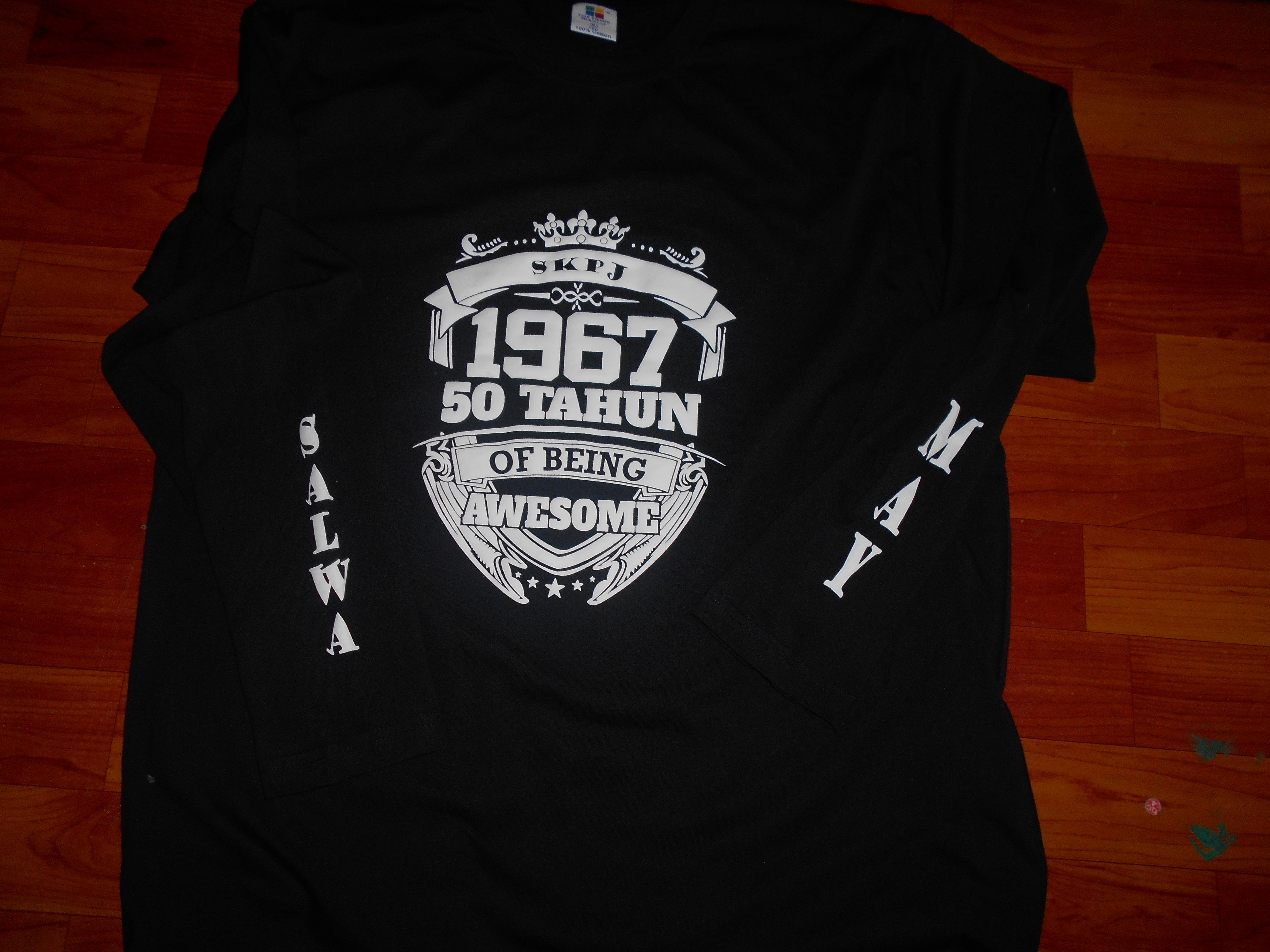 Black t shirt tambah lagi - Cetak Tshirt Emboss