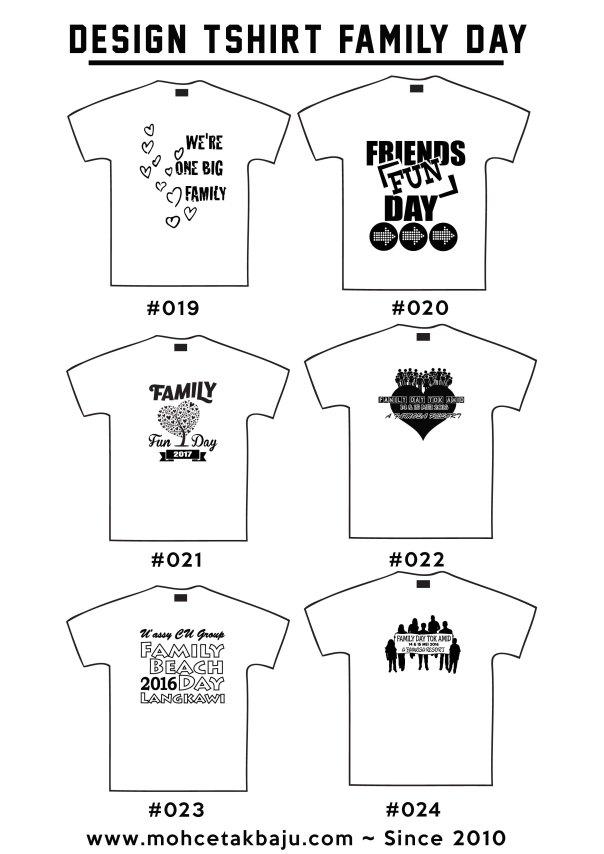 Design Tshirt Hari Keluarga Mohcetakbaju Com